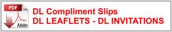 DL Compliment Slips DL LEAFLETS - DL INVITATIONS